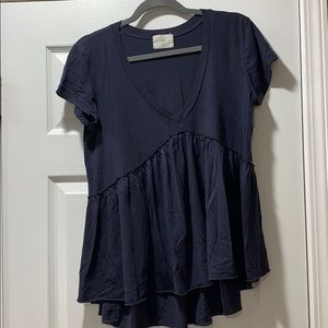 Anthropologie/ t, la v-neck tee